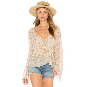 Free People Uptown Bell Sleeve top - size XS